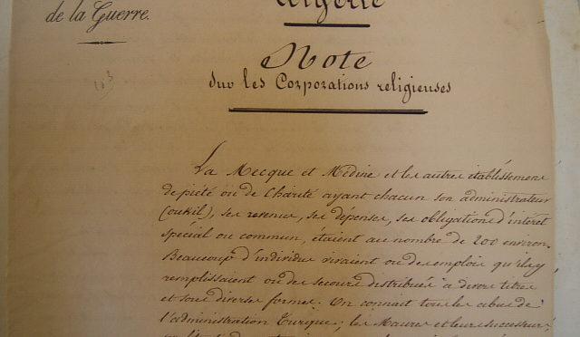 Corporations religieuses et autorité coloniale (Algérie, 1840-1842)